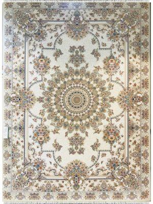 فرش ماشینی 1200 شانه خاطره کویر یاسمن کد 1406352