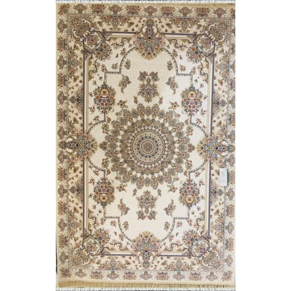 فرش ماشینی 1200 شانه خاطره کویر یاسمن کد 1406357