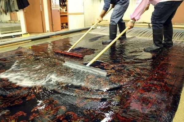 شستن فرش به روش ساده