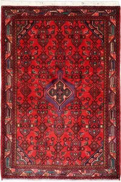 مدلهای فرش همدان با تلفیق رنگ آبی و قرمز