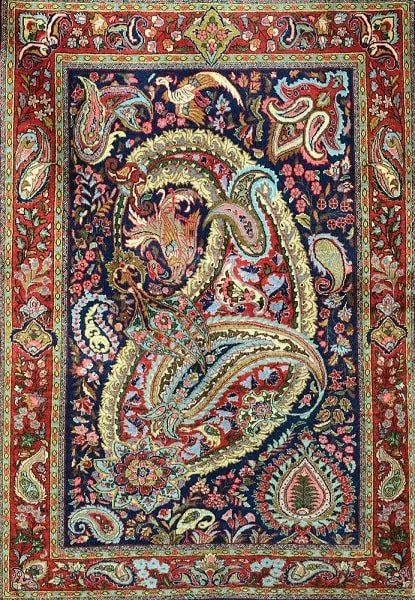 بته جقه یکی از مدلهای فرش ایرانی