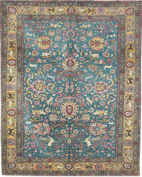 گل بزرگ ویژگی مدلهای فرش شاه عباسی