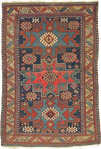 تلفیق اشکال هندی در مدلهای فرش عشایری