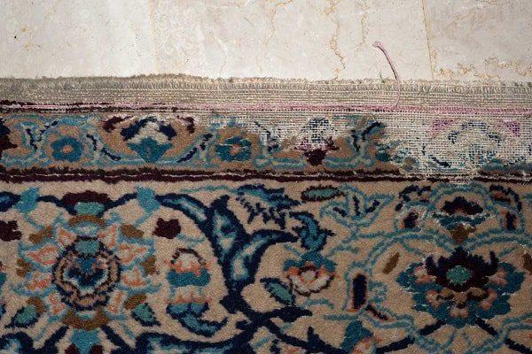 طاسی و خوردگی گوشه و کنار الیاف فرشهای پشمی نشانه بیدزدگی فرش است
