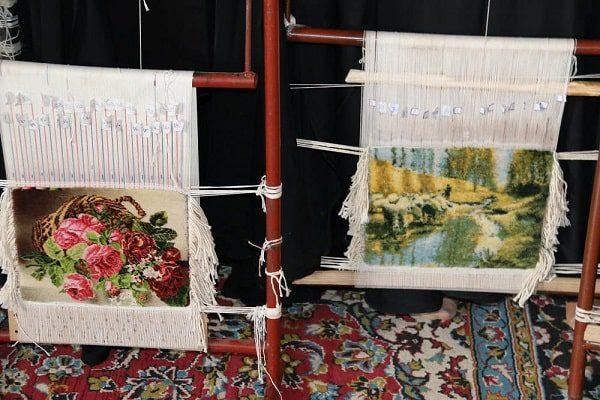 بافت خاص و اصولی تابلو فرش دستبافت