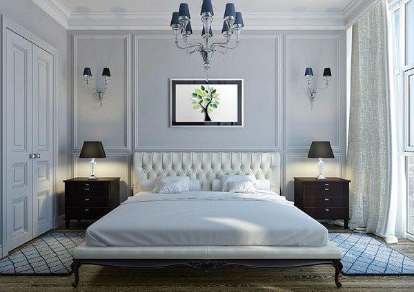 پهن کردن فرش تنها در اطراف تخت خواب